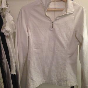 Nike White Quarter Zip Jacket